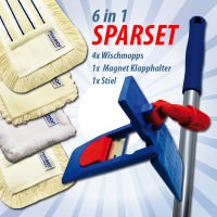 WISCHMOP SET | 6 in 1 SPARSET | 50cm